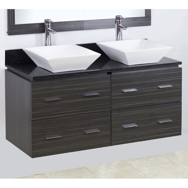 48 Double Modern Wall Mount Bathroom Vanity Set by American Imaginations
