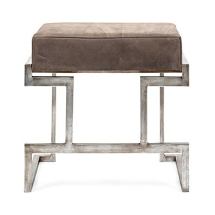 Harcourt Suede Metal Bench