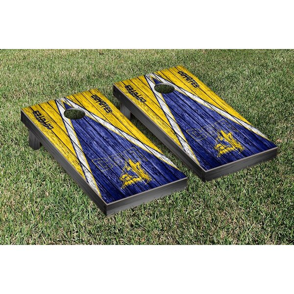 Southern Nevada Coyotes Banner Triangle Weathered Version Cornhole Game Set by Victory Tailgate