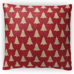 Christmas Tree Fleece Throw Pillow