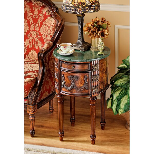The Beaufort End Table With Storage By Design Toscano