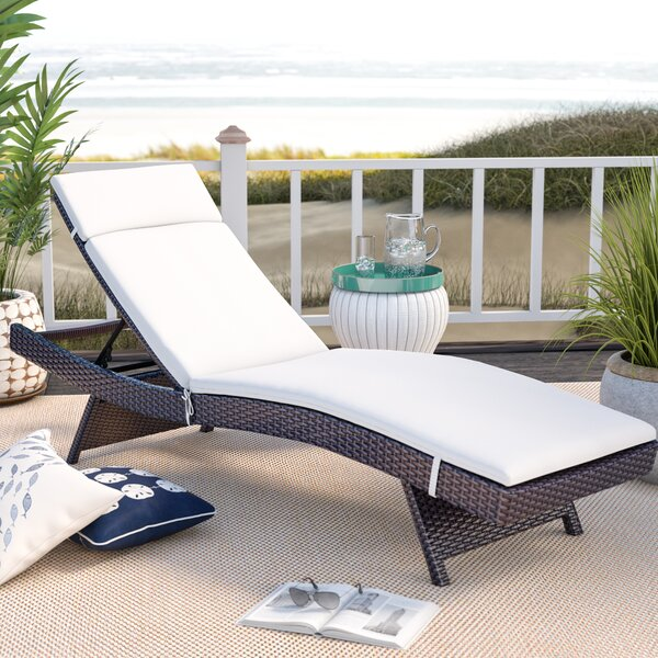 Seaton Reclining Chaise Lounge with Cushion by Sol 72 Outdoor