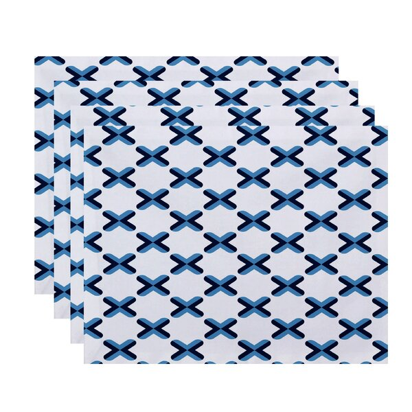 Doretta Criss Cross Placemat (Set of 4) by Latitude Run