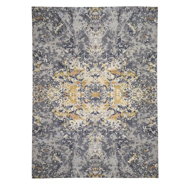 One-of-a-Kind McCutchenville Hand-Knotted Gray 10' x 13'10 Area Rug