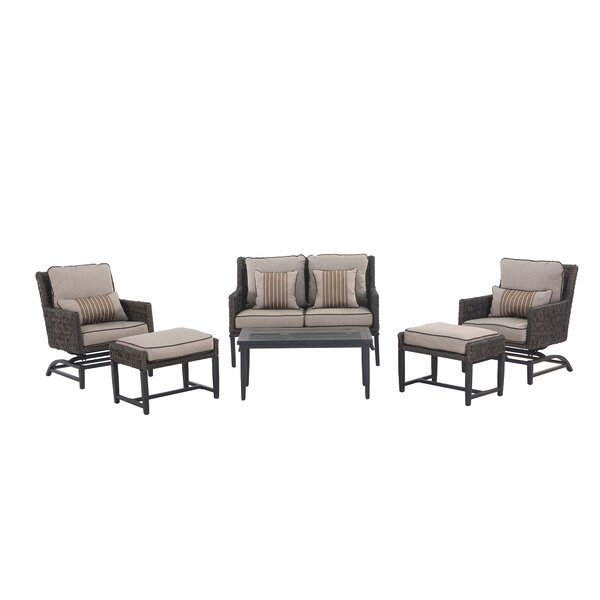 Barmadale 6 Piece Rattan Rocker Sofa Set with Cushions by Darby Home Co