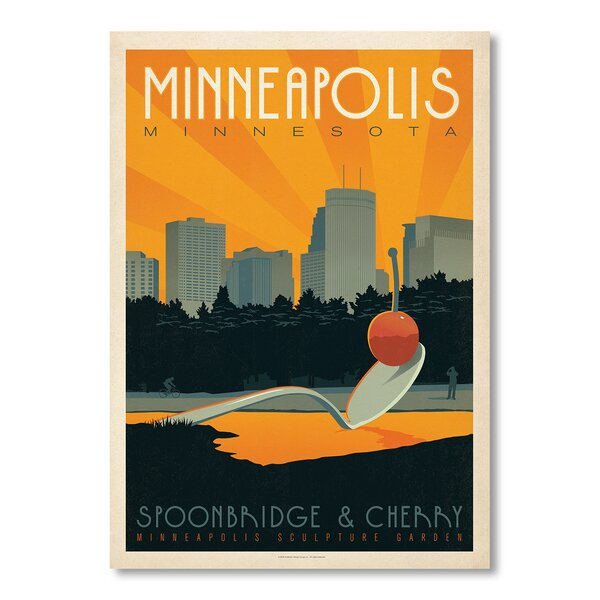 Minneapolis 2 Vintage Advertisement by East Urban Home