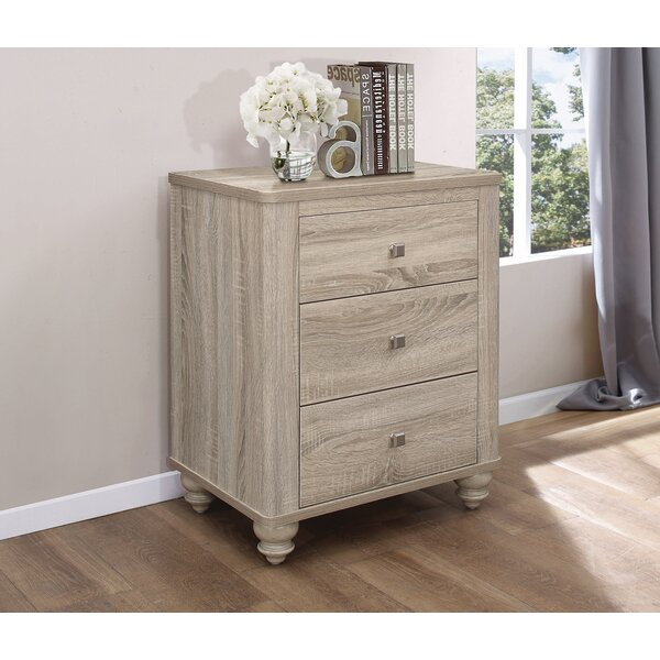 Jude 3 Drawer Nightstand by Gracie Oaks