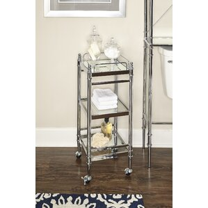 Turquoise Bar Cart by House of Hampton