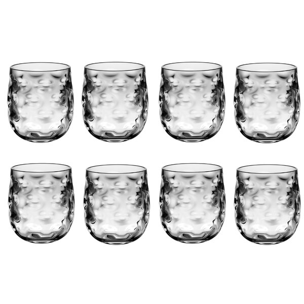 Taber 14 oz. Acrylic Drinking Glass (Set of 8) by Bay Isle Home