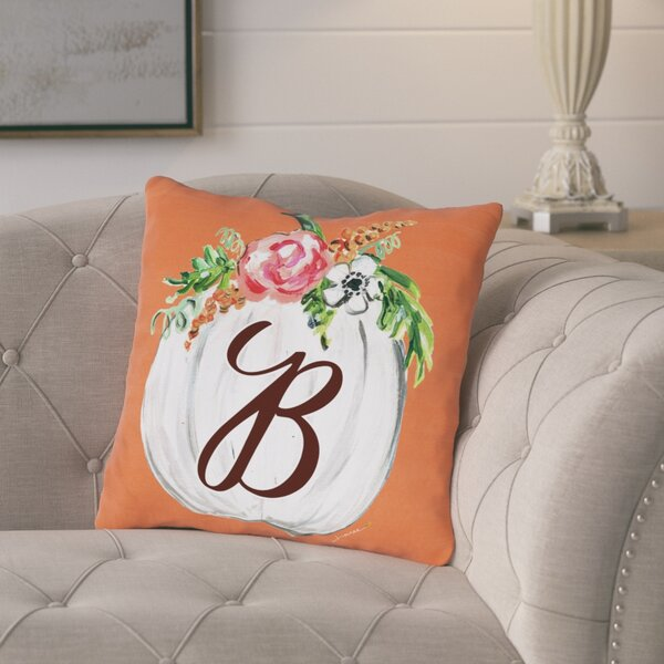 Pruneda Fall Pumpkin Personalized Throw Pillow by August Grove