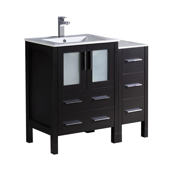 Torino 36 Single Bathroom Vanity Set by FrescaTorino 36 Single Bathroom Vanity Set by Fresca