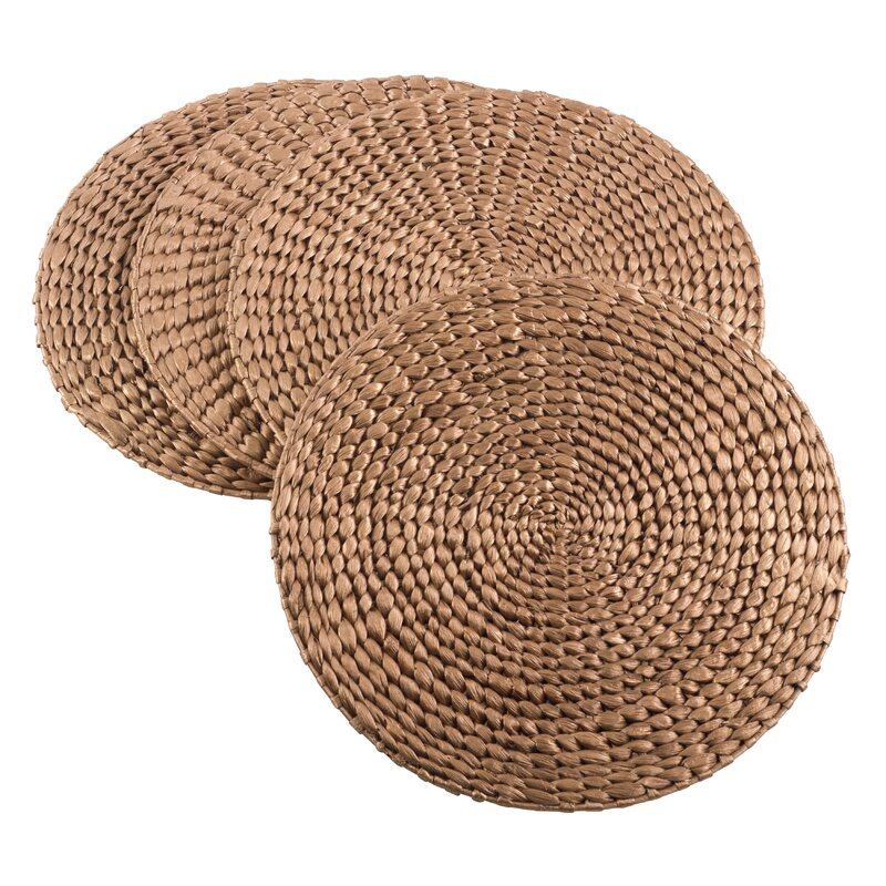 Hyacinth Natural Water Hand Woven Rattan Placemat