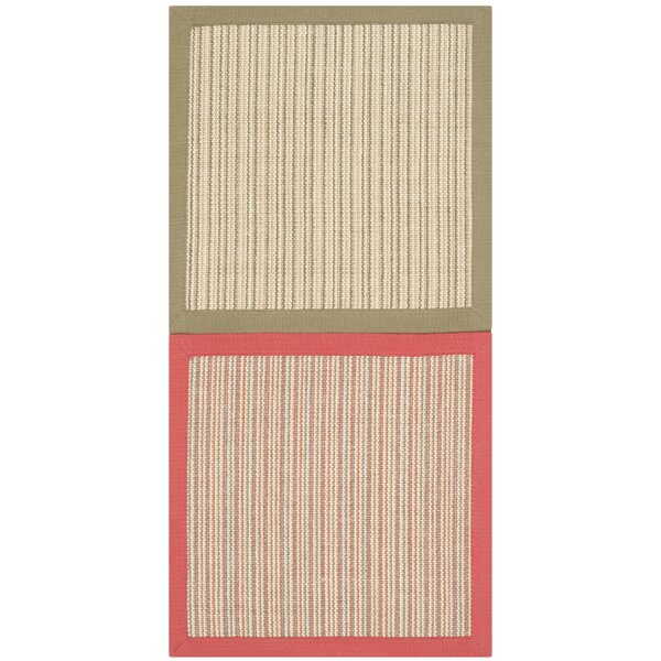 Ellery Assorted Beige/Pink/Green Area Rug  by Bayou Breeze