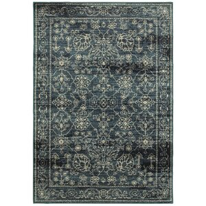 Fayanna Faded Traditions Navy/Beige Area Rug