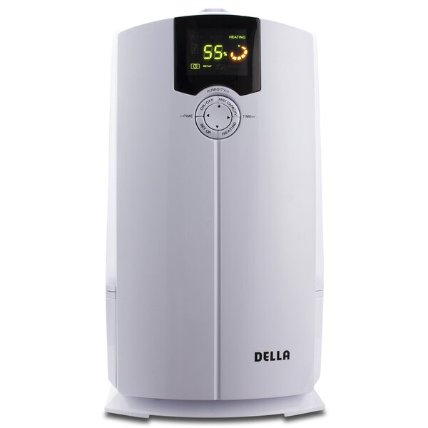 Cool and Warm 1.06 Gal. Ultrasonic Tabletop Humidifier by Della