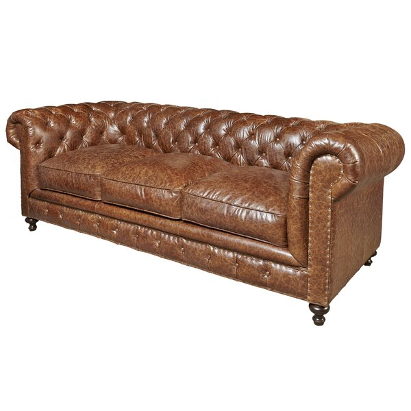 Julesburg Leather Chesterfield Sofa by Trent Austin Design
