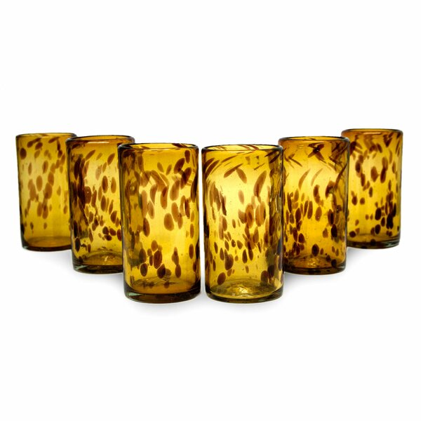 Handblown Recycled 12 Oz. Water Glass Set (Set of 6) by Novica