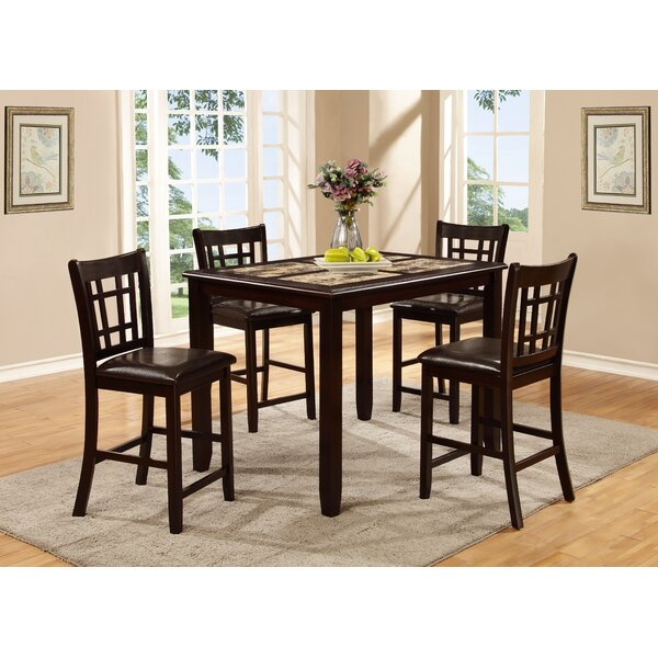 Stubbs 5 Piece Pub Table Set by Alcott Hill