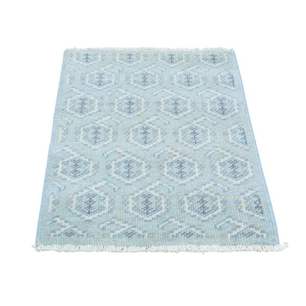One-of-a-Kind Dessie Paisley Knot Hand-Knotted Gray Area Rug by Bungalow Rose