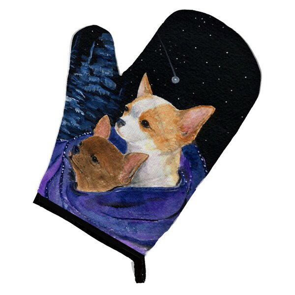 Starry Night Chihuahua Oven Mitt by Caroline's Treasures