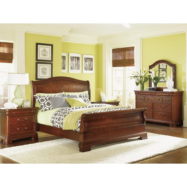 Edith Sleigh Bed by Darby Home Co