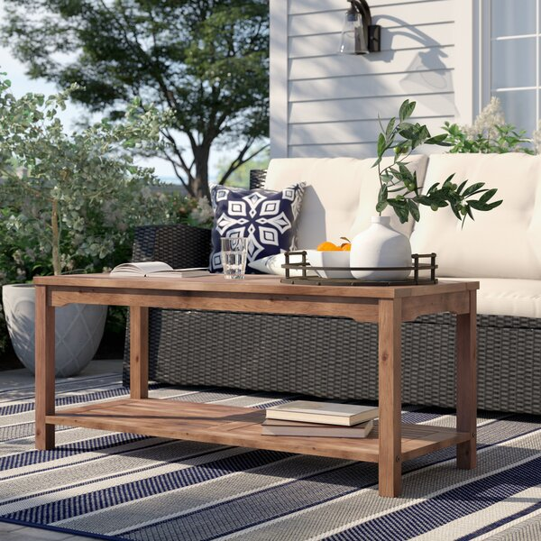 Laverock Wooden Coffee Table by Sol 72 Outdoor