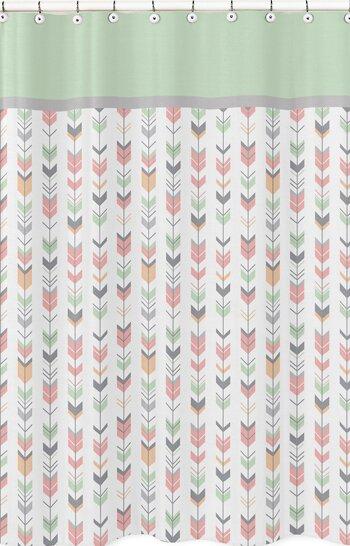 Mod Arrow Microfiber Shower Curtain by Sweet Jojo Designs