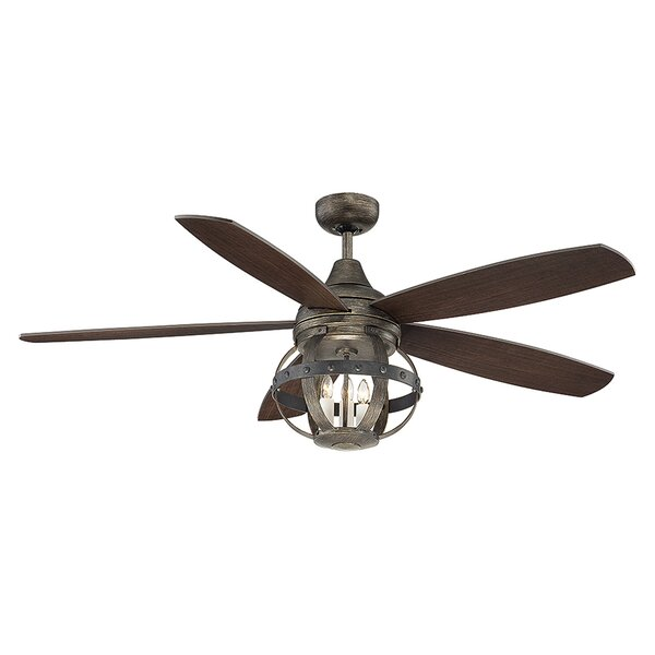 52 Wilburton 5 Blade Ceiling Fan with Remote by La