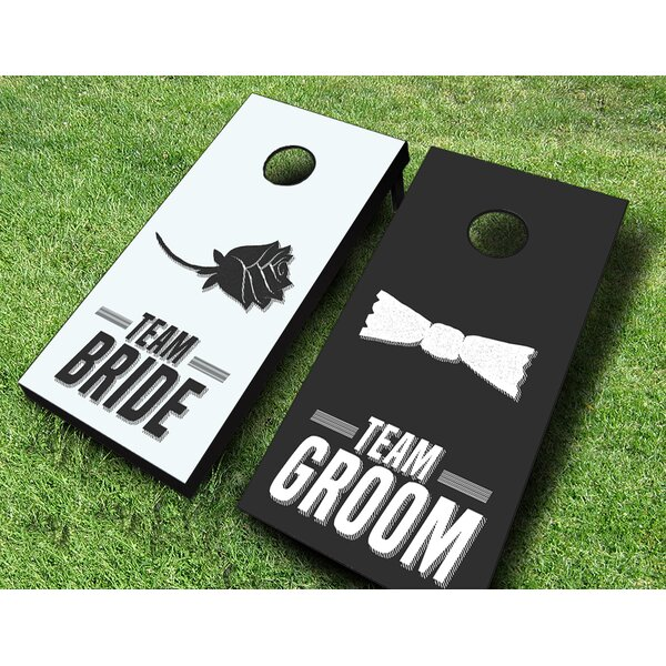 Wedding Shower Game Cornhole Set by AJJ Cornhole