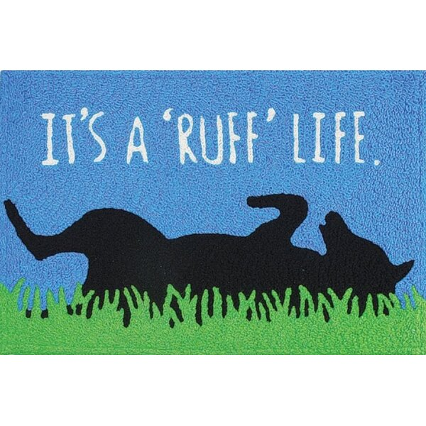 Ortonville Ruff Life Scatter Hand-Tufted Blue Indoor/Outdoor Area Rug by Winston Porter