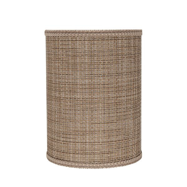 11 H Fabric Drum Lamp shade ( Spider ) in Brown