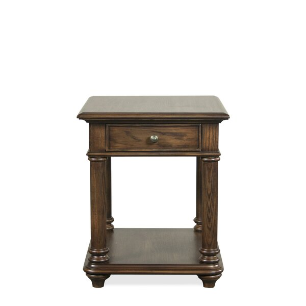 Lewistown End Table With Storage By Alcott Hill®