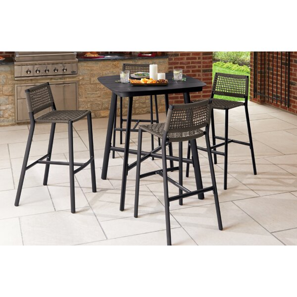 Lillie Eiland 5 Piece Bar Height Dining Set by Bayou Breeze