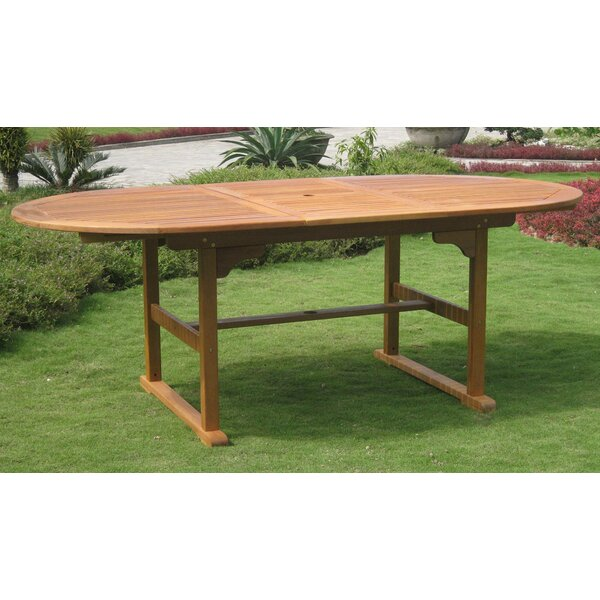 Rivas Oval Wooden Dining Table By Rosecliff Heights