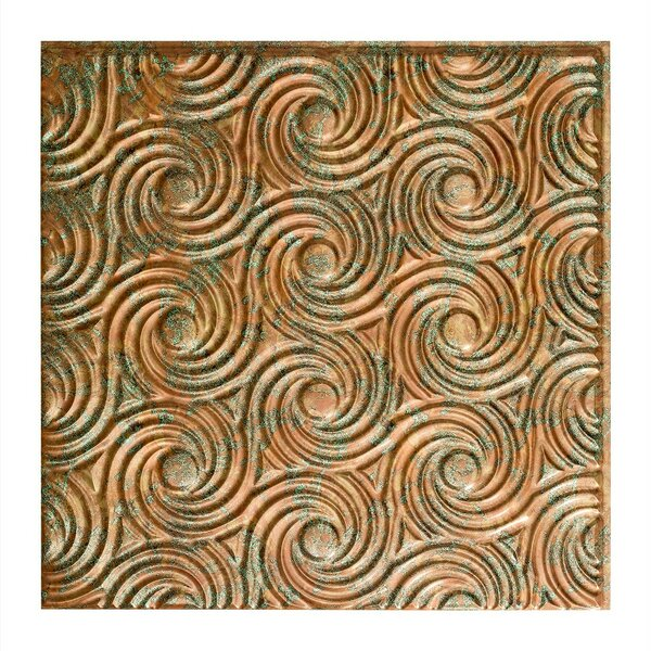 Cyclone 2 ft. x 2 ft. Glue-Up Ceiling Tile in Copper Fantasy by Fasade