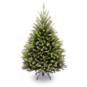 fir 45 hinged green artificial christmas tree with 450 clear lights - Artificial Christmas Trees With Lights