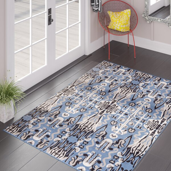 Braselton Gray/Navy Area Rug by Bungalow Rose