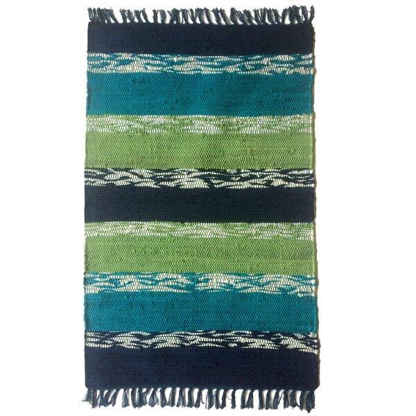 Danette Handmade Teal Area Rug by Bayou Breeze