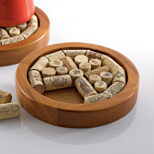 Round Wine Cork Trivet Kit by Wine Enthusiast