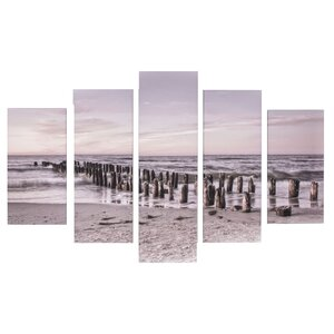 Spring 2015 Tranquil Seascape 5 Piece Photographic Print on Wrapped Canvas Set by Graham & Brown