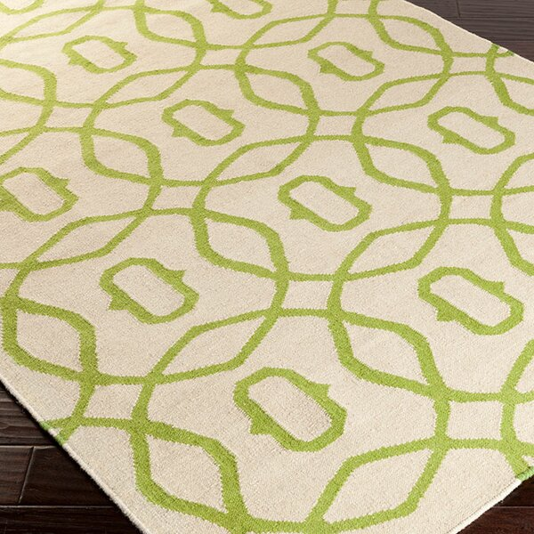 Donley Forest/Ivory Area Rug by Wrought Studio