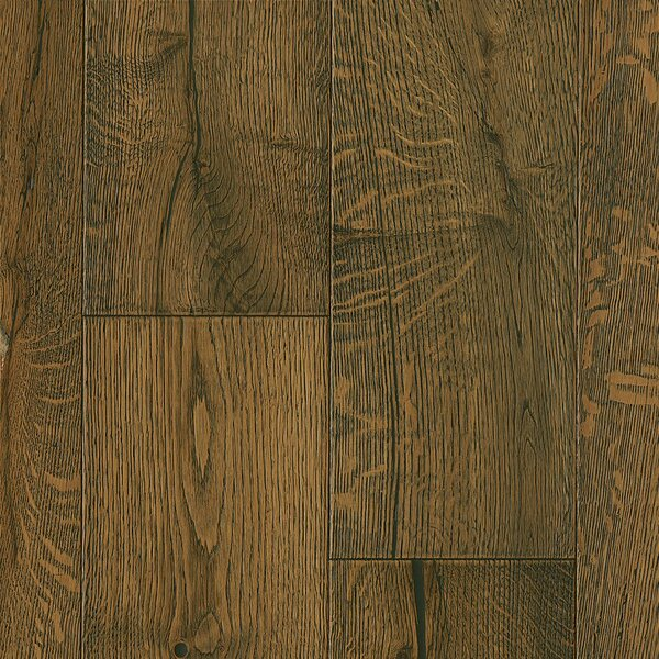 7-1/2 Engineered Oak Hardwood Flooring in Deep Etched BlackedEart by Armstrong Flooring