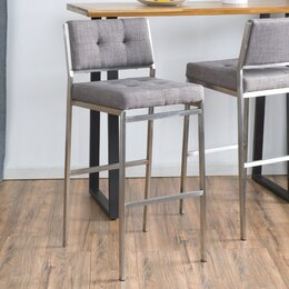 Grey Seat Bar Stools