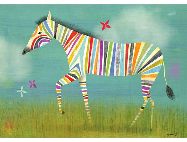 Rainbow Zebra Canvas Art by Oopsy Daisy