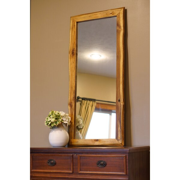 Mahmoud Wood Framed Wall Mirror by World Menagerie