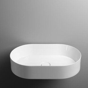 Bargain Track Ceramic Oval Vessel Bathroom Sink By WS Bath Collections