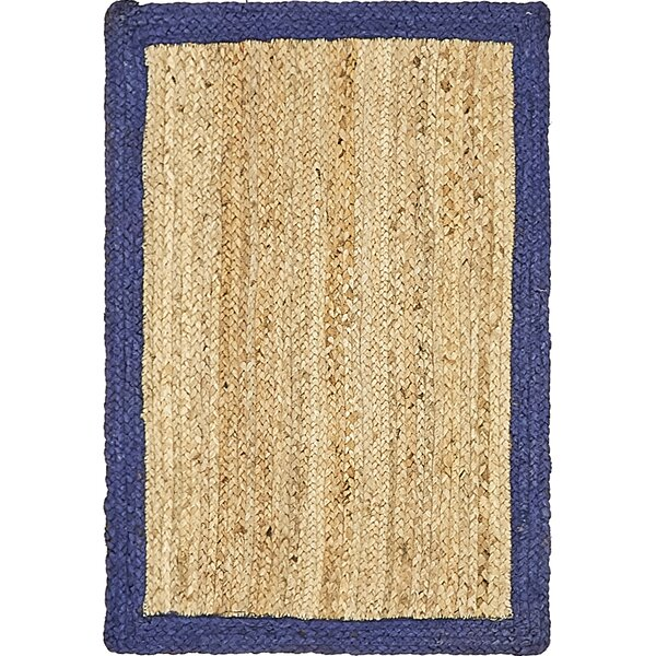 Nevin Hand-Braided Natural Area Rug by Beachcrest Home