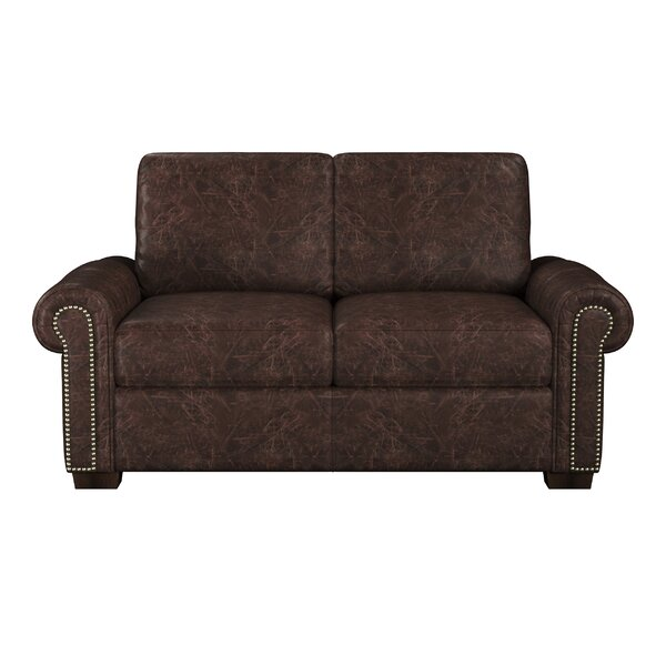 Burke Leather Loveseat by Westland and Birch