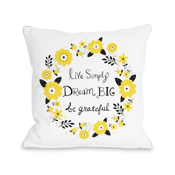 Dazzling Throw Pillow by One Bella Casa