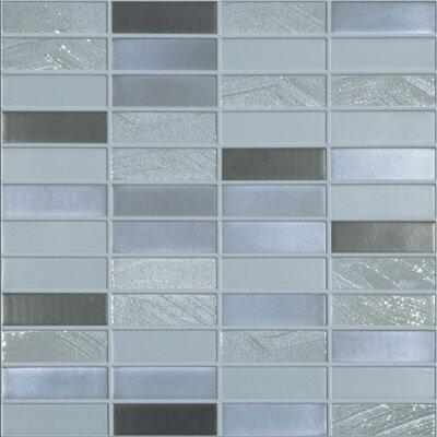 Urban Jumeriah 1 x 3 Glass Mosaic Tile in Matte Metalic by Kellani